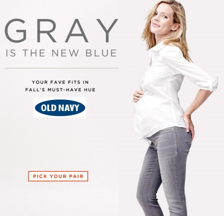 b87a143dceb Old Navy- Gray is the new blue- EXPECTING MODELS AGENCY - The Stork ...