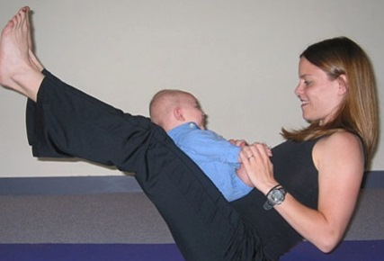 Post natal workout for new model mom
