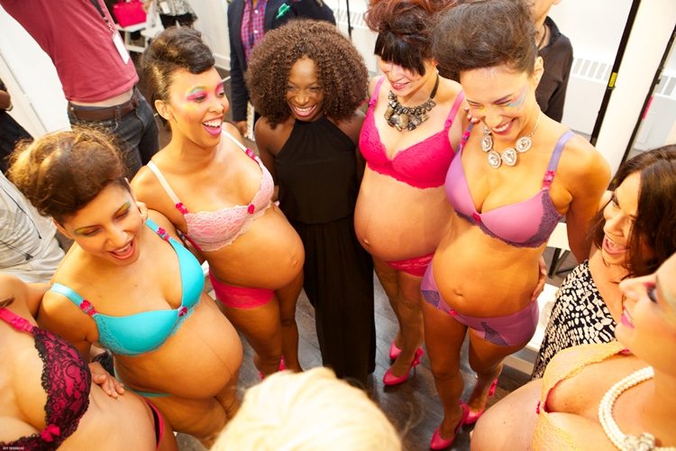 Expecting Models at Lingerie Fashion Week in NYC