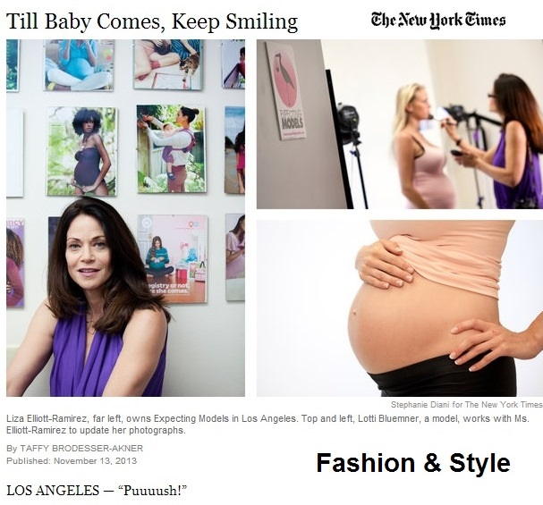 Liza Elliott-Ramirez CEO of Expecting Models for The New York Times