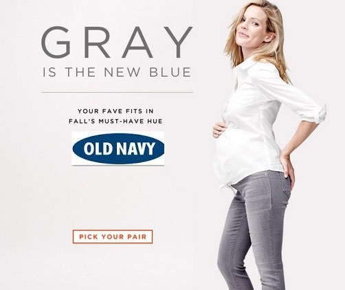 Gray is the new blue- Expecting Models for Old Navy Maternity