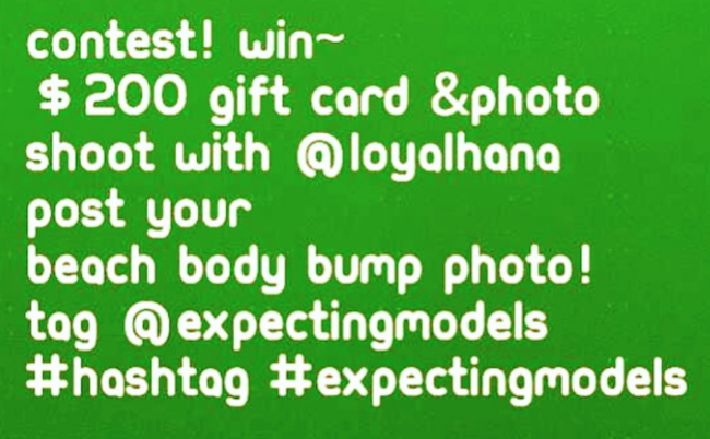 Contest for expectant moms