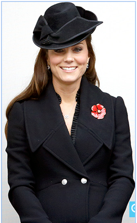 Kate Middleton in honor of Veterans Day