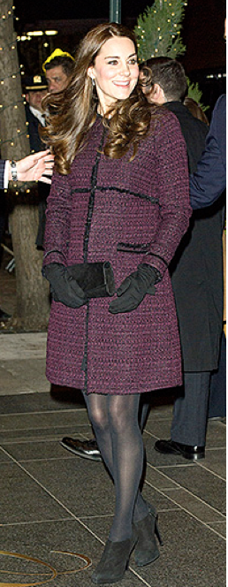 Kate Middle wearing Seraphine Coat