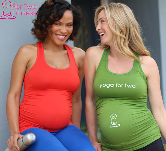 Maternity fitness poses